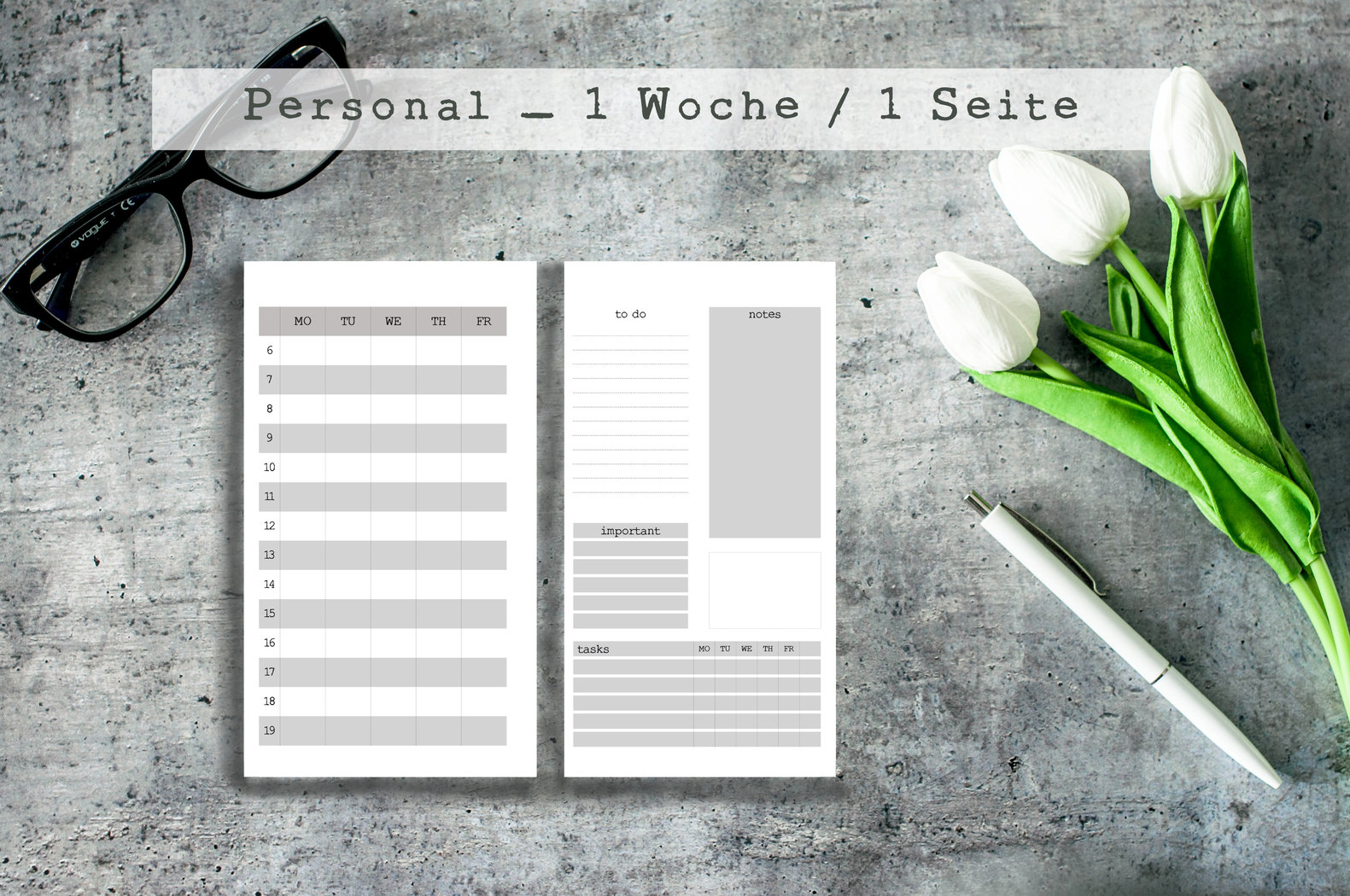 Download ! Digitale Einlagen Personal Planner