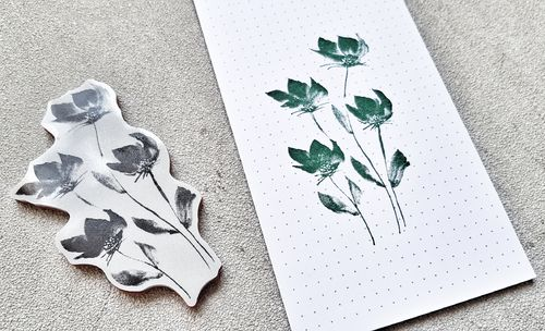 3D Cling Stempel watercolor flower