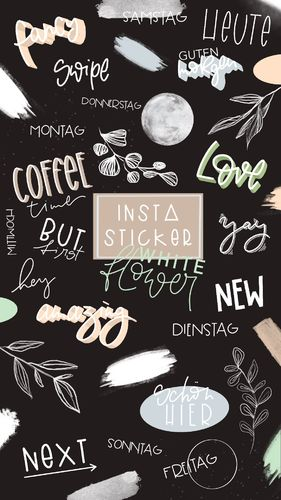Instagram Story Sticker _ white flower _ 45 Stück _ Download
