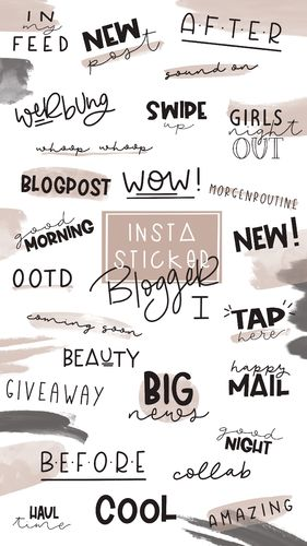 Instagram Story Sticker _ Basic Blogger 1 _ 55+ Stück _ Download