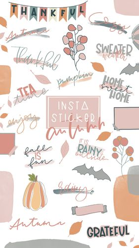 Instagram Story Sticker _ Autumn _ +40 Stück _ Download