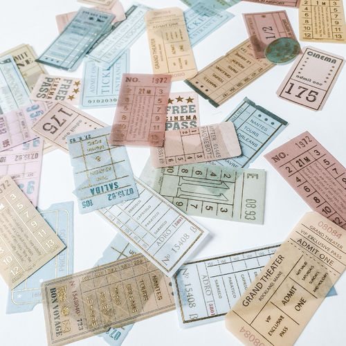 Washi Sticker _ tickets