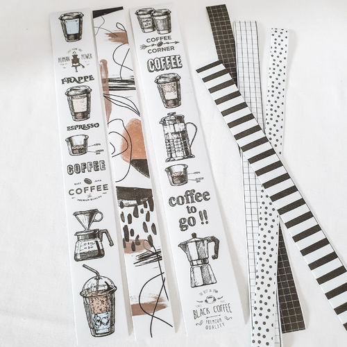 Washi tape sheet _ Sticker _ coffee