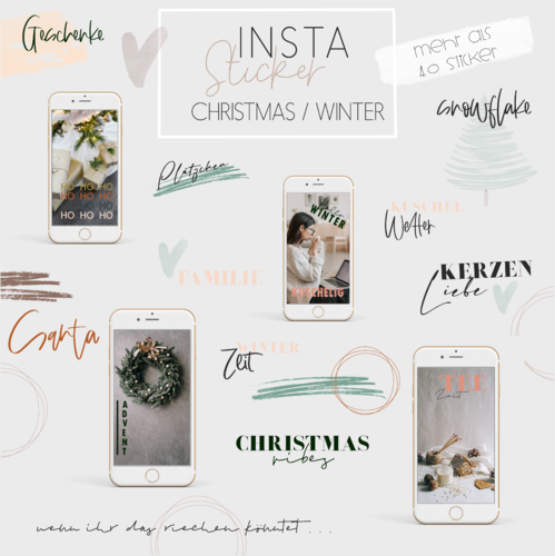 Instagram Story Sticker _ Winter _ +40 Stück _ Download
